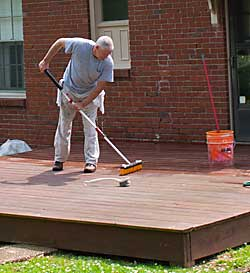 The Painted Surface How To Stain An Old Deck Using