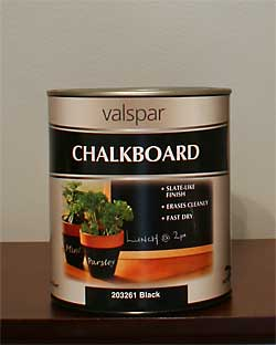 The Painted Surface How To Use Chalkboard Paint Page 1