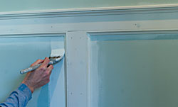 The Painted Surface - How To Paint New Wainscoting on paint doors, paint stucco, paint beadboard, paint stairs, paint night parties, paint dipping, paint crosses, paint for metal, paint for furniture, paint for concrete, paint trim, paint collage, paint with kevin, paint stone, paint painting, paint piano, paint with hardwood floors, paint siding, paint old cabinets, paint flooring,